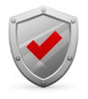 Icon: Shield with Red Checkmark