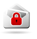 Icon: Envelope with Red Padlock