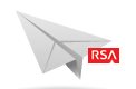 Icon: Paper Airplane with RSA Logo