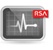 Icon: Monitor with Line Graph and RSA Logo